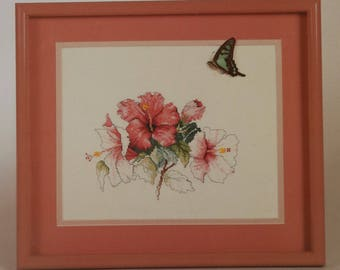 Counted Cross Stitch Pattern | Floral | Hibiscus
