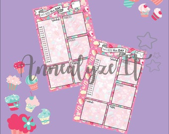 Mini Happy Planner - Cupcake Nation Daily Layout (Pink)