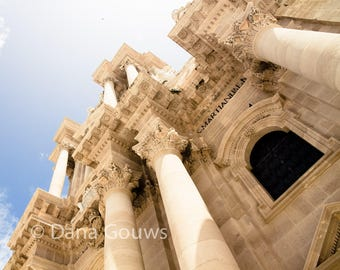 Syracuse Cathedral Sicily, Italy Photography Cattedrale Italian building travel landscape travel photo