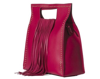 Vegan leather too handle bag