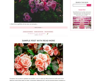 Dazzling Pre Made Blogger Template