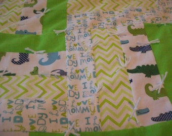 Toddler Alligator Quilt