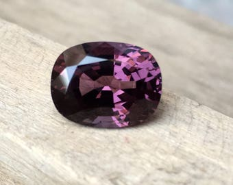 5.60 Carate Beautiful Faceted Purple Color Spinel From Burma With Beautiful Color and Luster.