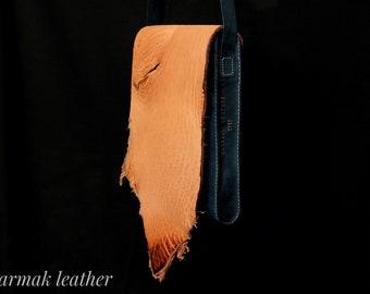 Natural leather bag, cow leather shoulder bag, men's bag