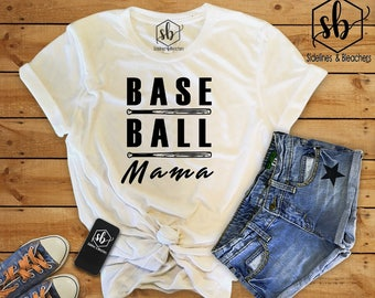 Baseball Mama | Baseball shirt | Baseball Babes | Moms shirts | Customize | Sidelines & BLeachers | Baseball Swag | Mom Gear | BleacherReady