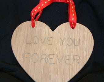 """WOODEN HEART """"Love You 4 Ever"""""""