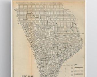 New York Growth Vintage Map