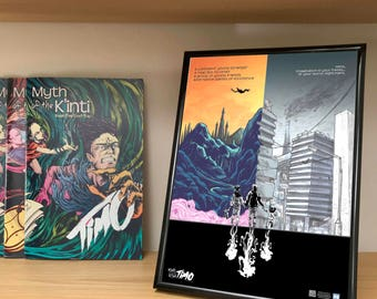 "Two Worlds. Full colour Poster from the Comic book series ""Myth of the Kinti"": Timo"