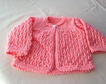 Matinee coat and bonett for baby 3-6 months