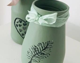 Small Painted Jars
