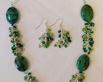 Green With Envy Necklace and Earrings