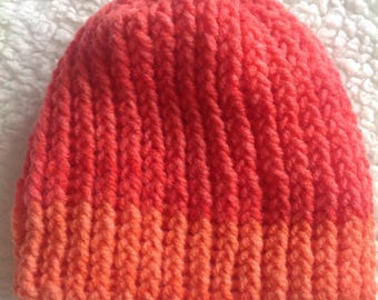 Pink and Orange Baby Hat