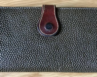 Mulberry Vintage Scotchgrain Dark Brown Leather Continental Wallet Purse. Made In England