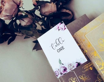 Table Numbers - Perfect Peonies
