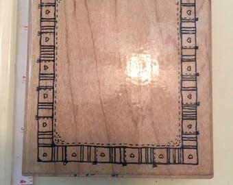 Patchwork Frame rubber stamp