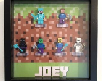 Minecraft Inspired Frame - Personalised