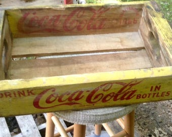 Authentic 1960's Coca Cola Wood Delivery Crate