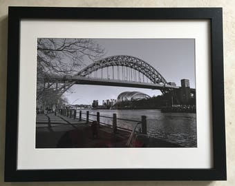 Original Black & White photograph of the Quayside of Newcastle upon Tyne