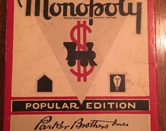Vintage Monopoly Board Game - 1951