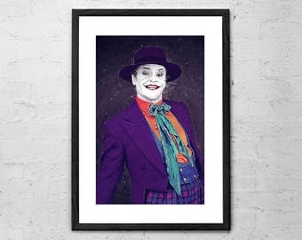 The Joker - Illustration - Joker Poster - Jack Nicholson - Movie Poster - Batman - DC villains Poster - Joker Art Print - The Joker Print