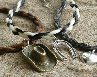 Ginger - Horsehair Bracelet with Sterling Silver
