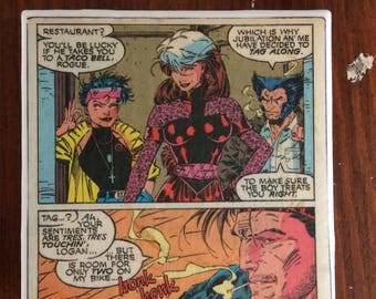 Rogue, Jubilee, Wolverine and Gambit Coaster - X-Men, Marvel Comics