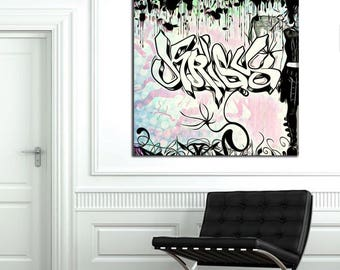Krisy  -  Custom Graffiti Name Sign, Graffiti Art Canvas Print, Personalized Canvas Wall Art, Abstract Graffiti Canvas