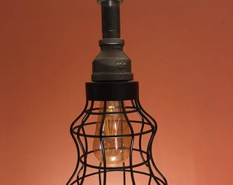 Industrial pipe pendant light