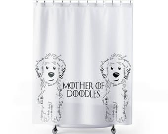 Mother Of Doodles Shower Curtain - Goldendoodle / Labradoodle / Golden Doodle / SheepaDoodle / Bernedoodle