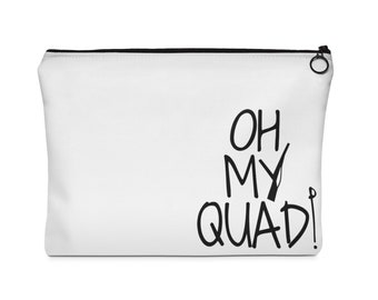 Oh My Quad Colorguard Carry All Pouch  2 sizes, color guard, winterguard, winter guard, drum corps