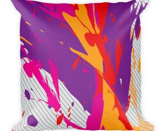 Color splash,Square Pillow cover w/stuffing, USA,Printful