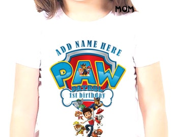 Iron On Transfer Paw Patrol,  Paw Patrol Birthday Boy Shirt Iron On Transfer, Birthday Boy Iron On Transfer, Personalize Iron On Transfer
