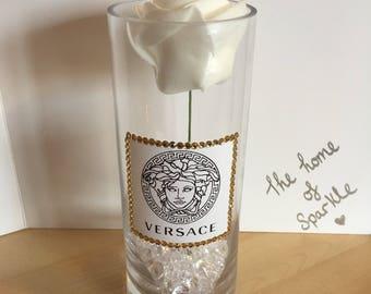 Versace inspired diamanté vase