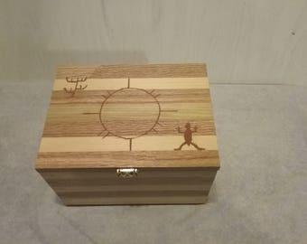 Wooden hand made  Keepsake box