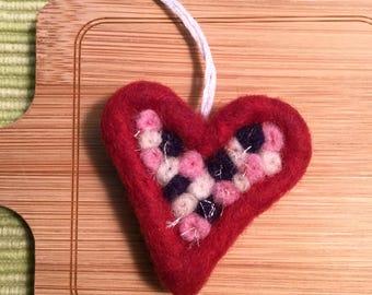 Felted Heart Token of Love