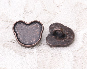 cat buttons cute buttons 10pcs 14*12*6mm metal copper buttons shank buttons children clothing buttons