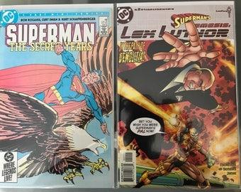 Superman The Secret Years #4 - 1985 - NM condition & Supermans Nemisis : Lex Luthor # 2 - 199?- Dc comics