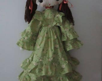 "Doll Made From Vintage Pattern - 32"" high"