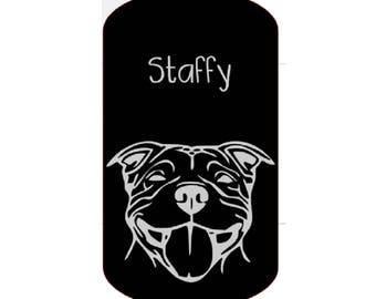 Staffy Pet ID Tag