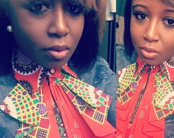 African Blouse Bow Tie