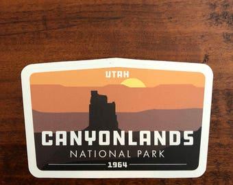 Canyonlands National Park: Candlestick Butte -Vinyl Sticker