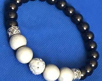 """B3 Bracelet """"grey stone"""""""