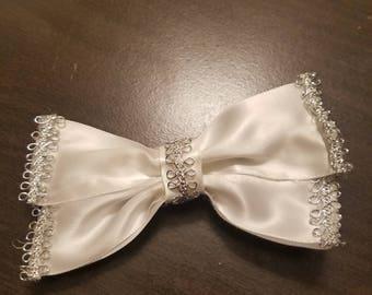 Cute white bow