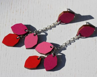 Varpu earrings (fuchsia)