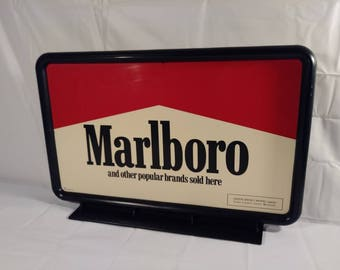 Vintage Marlboro Cigarette Tabletop Sign