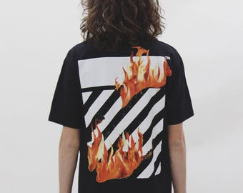 Off White Fire Tee