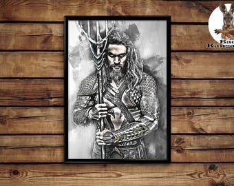 Aquaman wall art home decor poster