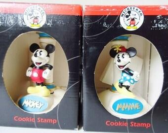Mickey & Minnie Mouse Cookie Stamp, New Vintage Disney