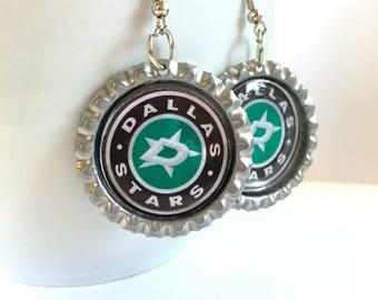 Dallas STARS Handcrafted Hockey Earrings