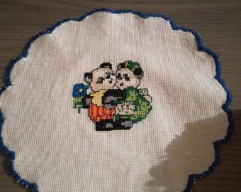 Centrino Cross Stitch Sweethearts Panda